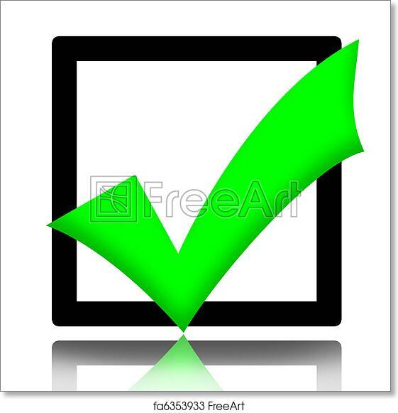 Free Art Print Of Checkmark Green Checkmark Symbol Illustration