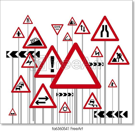 graphic relating to Printable Road Signs identify Totally free artwork print of Highway indications