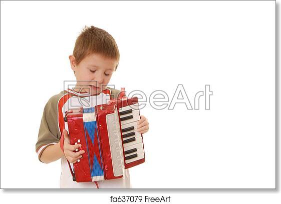 Free art print of Accordion Boy 35