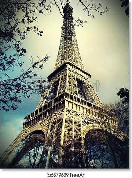 graphic about Printable Eiffel Tower called No cost artwork print of Eiffel tower in just Paris