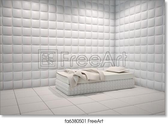 Free art print of Mental hospital padded room. White mental hospital ...