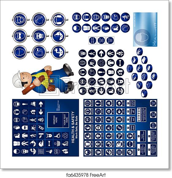 Free Art Print Of Health And Safety Collection Construction And