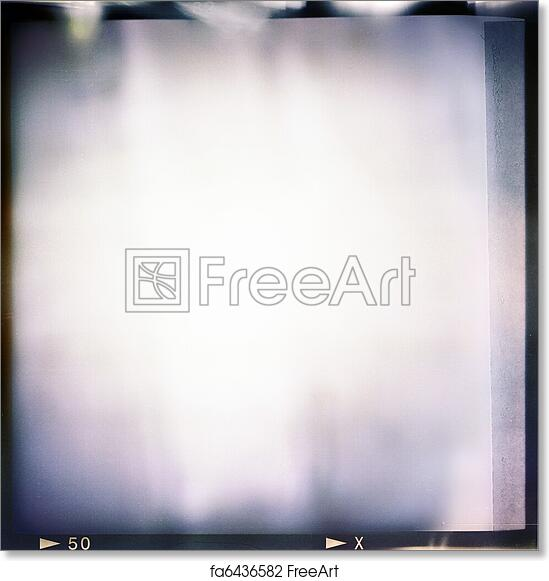 Free art print of Blank medium format (6x6) color film frame with ...