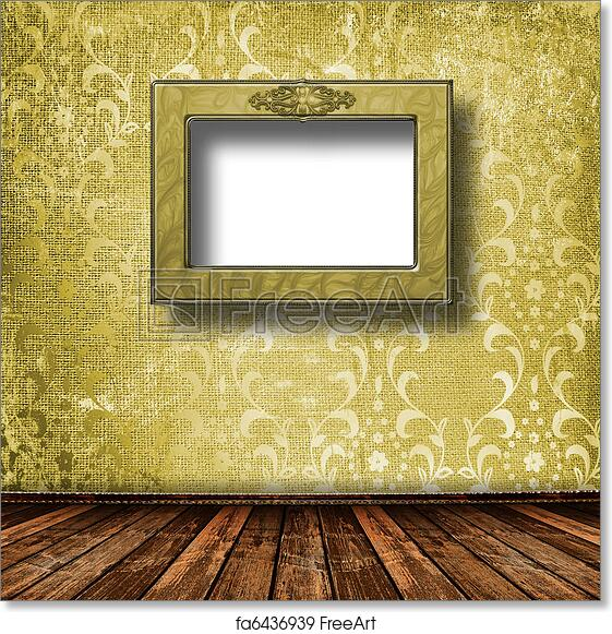Free art print of Old grunge room with wooden picture frames in ...