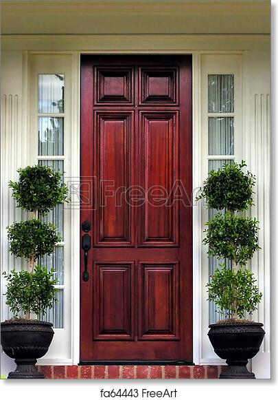 Free Art Print Of Front Door Topiary Topiary Plants At Front Door