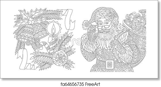Christmas Tree Adult Difficult Zentangle Coloring Pages Printable | 305x560