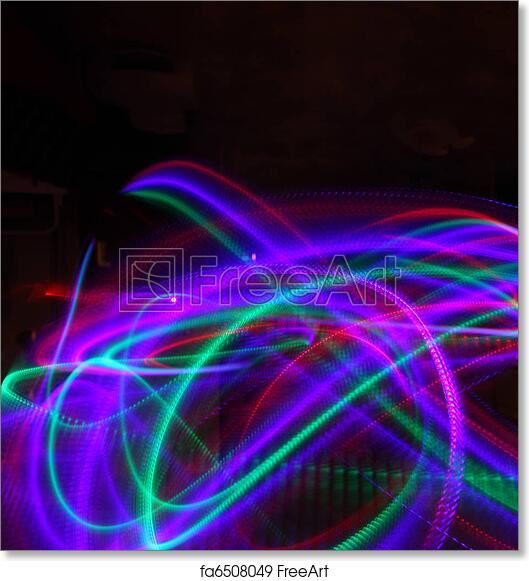 free art print of abstract background of moving colorful lights