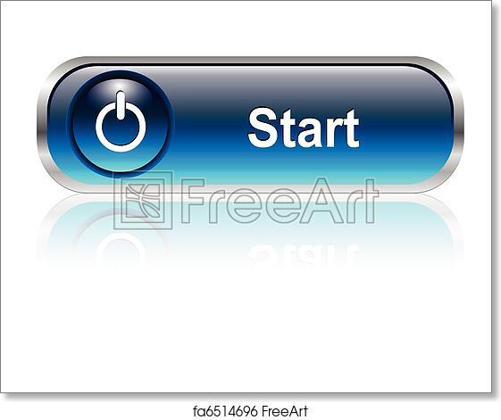 Free art print of Start icon, button