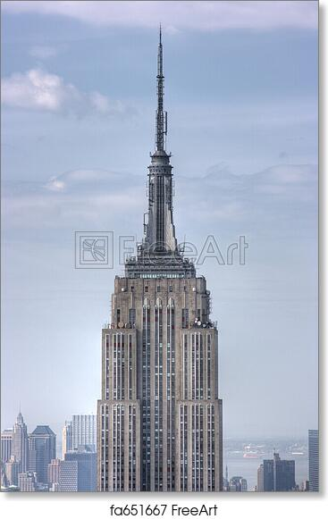 free art print of close up of empire state building new york city