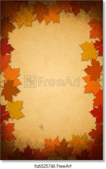 Free art print of Thanksgiving leaves on an old paper. Thanksgiving ...
