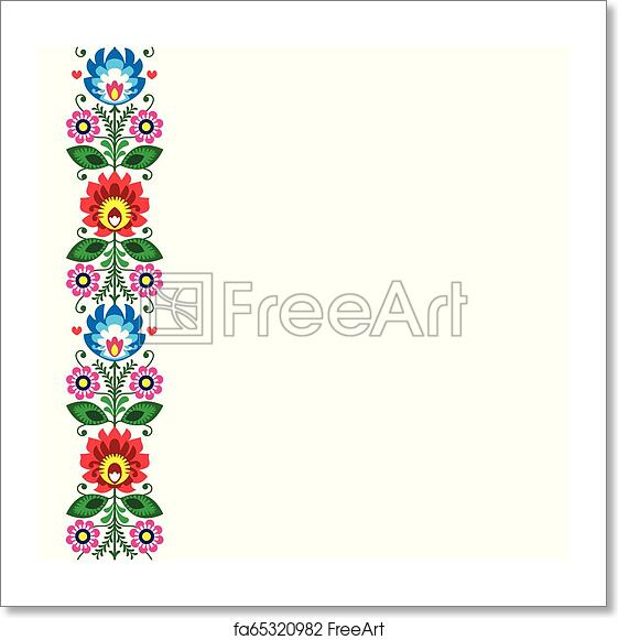 Free Art Print Of Folk Art Vector Greeting Card Or Wedding