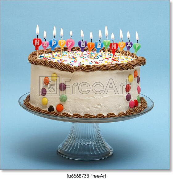 Free Art Print Of Happy Birthday Cake A And Its Candles That Read
