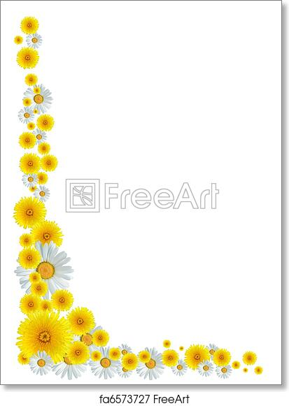 Free Art Print Of Flowers Border Nice Border Made From Lot Of