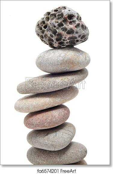 Free Art Print Of Zen Stones A Pile Of Zen Stones On A White