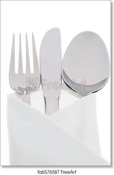 graphic about Printable Plates named Cost-free artwork print of Knives, forks and plates