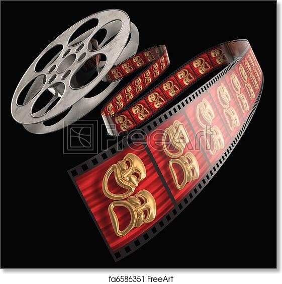 Free Art Print Of Movie Reel Movie Film Reel Isolated On A White