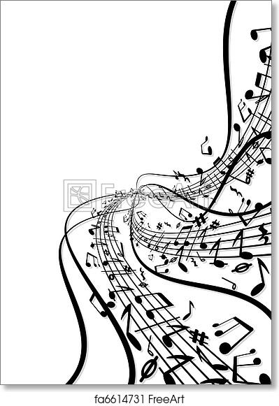 Free Art Print Of Music Notes Background Freeart Fa6614731