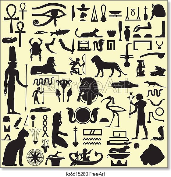 Free Art Print Of Egyptian Symbols And Signs Set 1 Ancient Egyptian