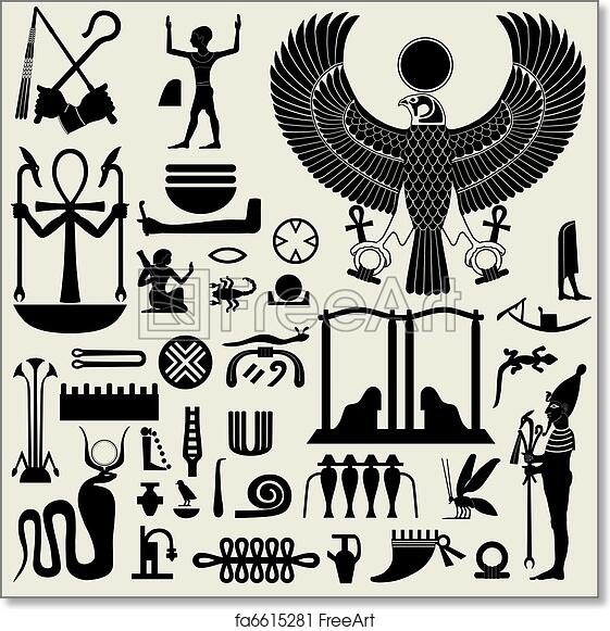 Free Art Print Of Egyptian Symbols And Signs Set 2 Ancient Egyptian