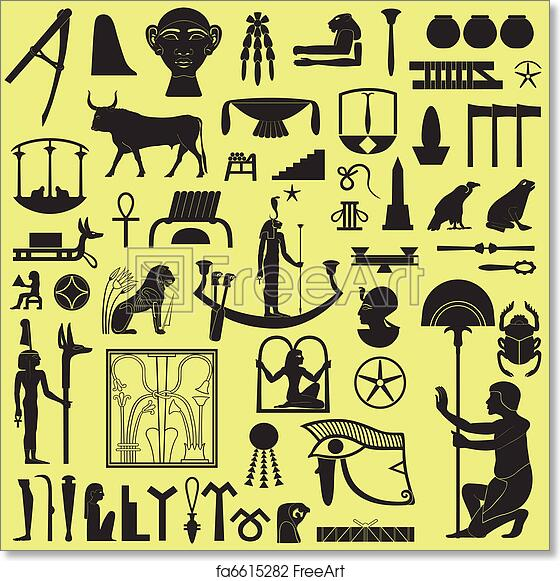 Free Art Print Of Egyptian Symbols And Signs Set 3 Ancient Egyptian