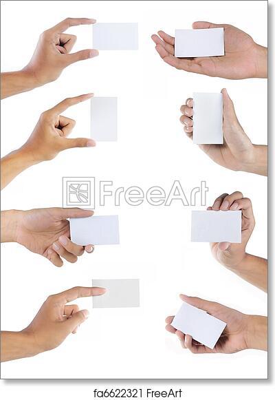 Free art print of set of hand holding blank business card set of free art print of set of hand holding blank business card colourmoves
