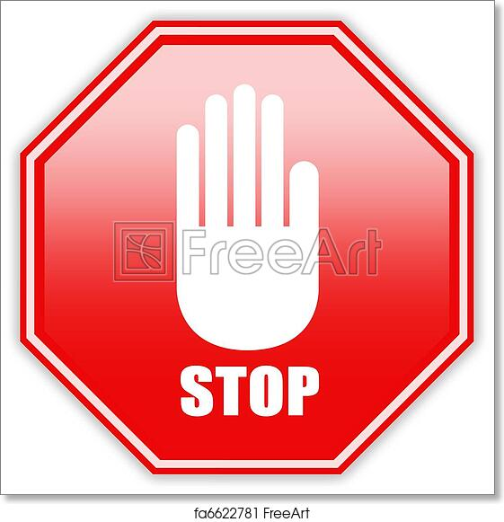 image about Printable Stop Sign known as Totally free artwork print of Protect against indicator