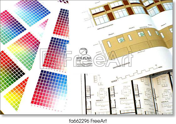 Free Art Print Of Colour Chart And Plans With Elevation