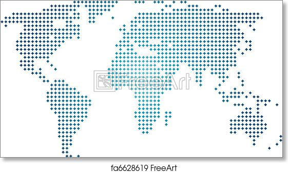 Free Art Print Of Vector Abstract World Map Freeart Fa6628619