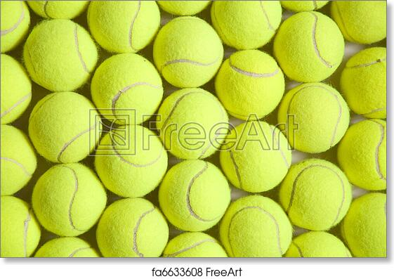 Free Art Print Of Tennis Ball Background Background Image Full Of