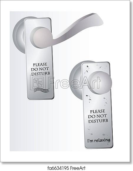 free art print of do not disturb sign on door freeart fa6634195
