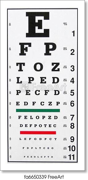 Free art print of Eye Chart. A typical Eye Chart for ...