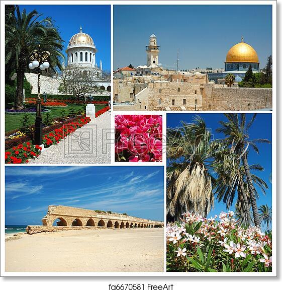 Free Art Print Of Collage Of Israel Landmarks Jerusalembahai
