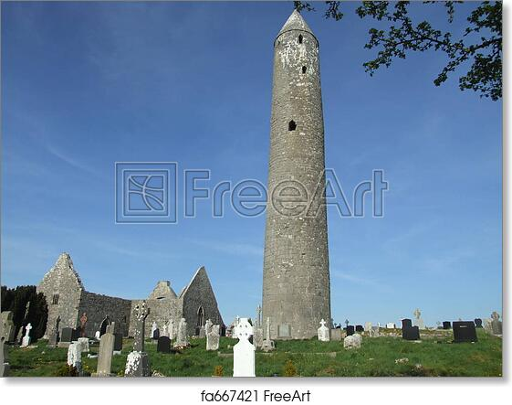"Canvas Art Print /""Kilmacduagh Round Tower/"""