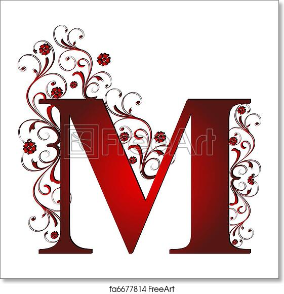 Free Art Print Of Capital Letter M Red
