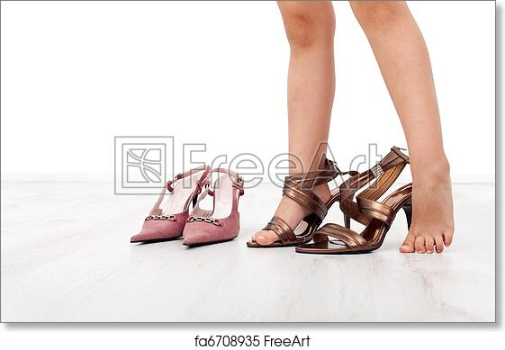 ef23998b10d Free art print of Little girl trying large shoes with high heels