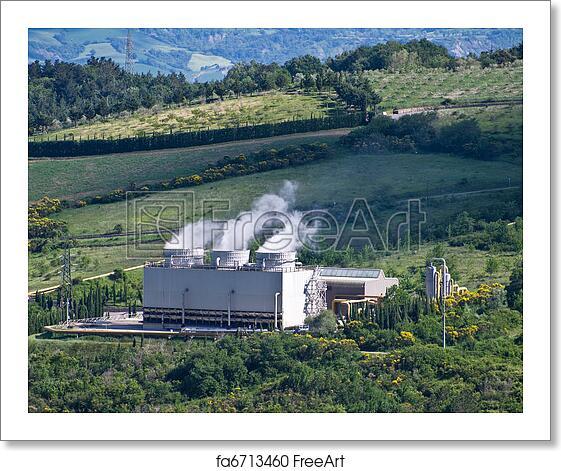Free art print of Geothermal power plant