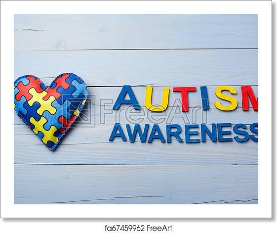 Free art print of World Autism Awareness day, mental ...