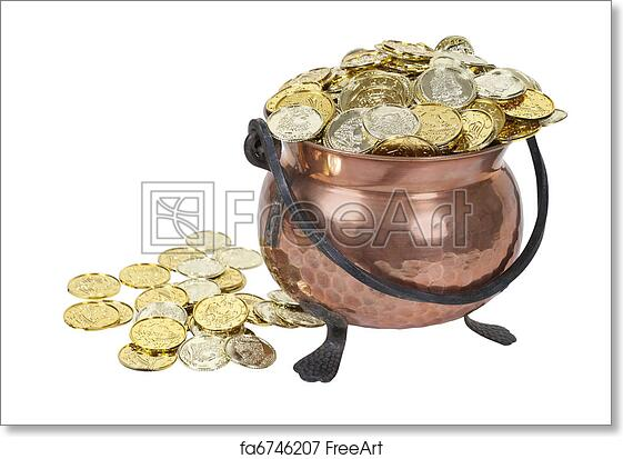 photo relating to Large Printable Coins identified as No cost artwork print of Pot of Gold