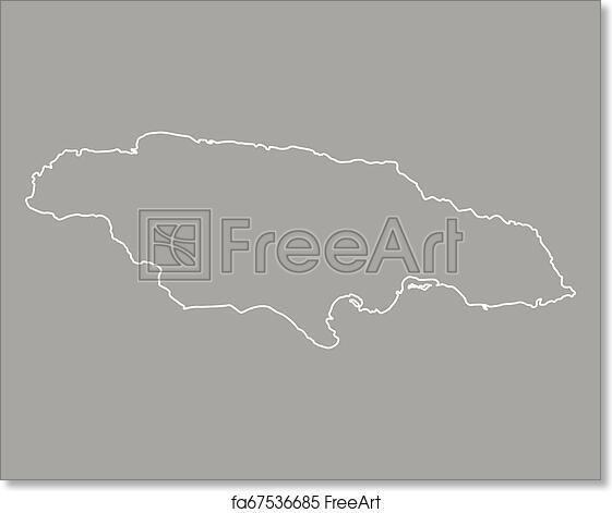Free art print of Map of Jamaica