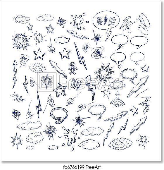 Free art print of Hand drawn doodle