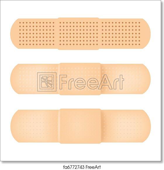 Free art print of Vector-Band-aid