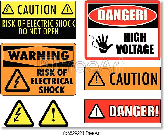 graphic regarding Free Printable Safety Posters titled No cost artwork print of Basic safety electric powered signs or symptoms