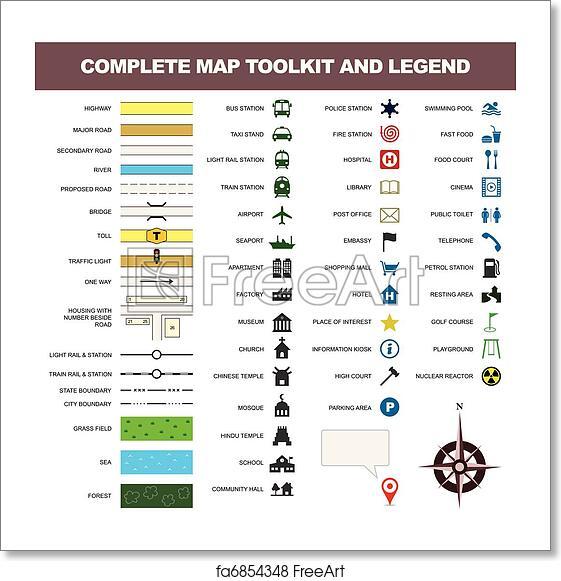 Free art print of Map icon legend symbol sign toolkit Map Comp Symbol on mod symbols, power symbols, crane symbols, sport symbols, baltimore symbols, cd symbols, race symbols, state symbols, real symbols, cook symbols,