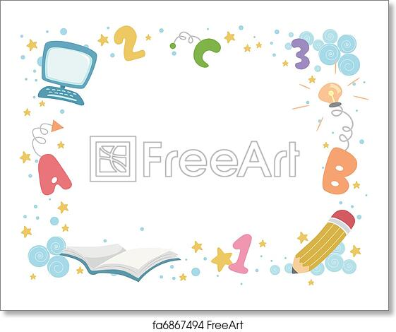 Free art print of Education Frame. Frame Illustration with an ...