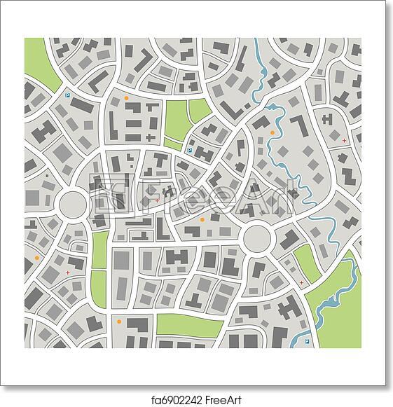 Free art print of City map