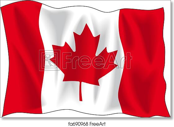 Free Art Print Of Canadian Flag Canadian Wavy Flag Isolated On