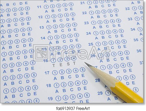 photograph relating to Free Printable Scantron Bubble Sheet named Free of charge artwork print of Verify upon scantron