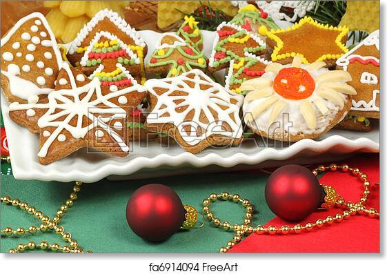 Free Art Print Of Gingerbread Christmas Cookies