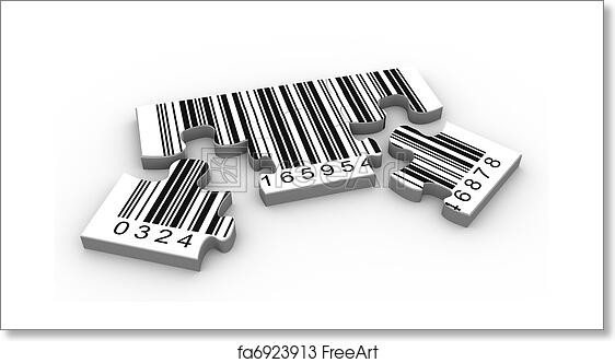 Free art print of 3d barcode puzzle