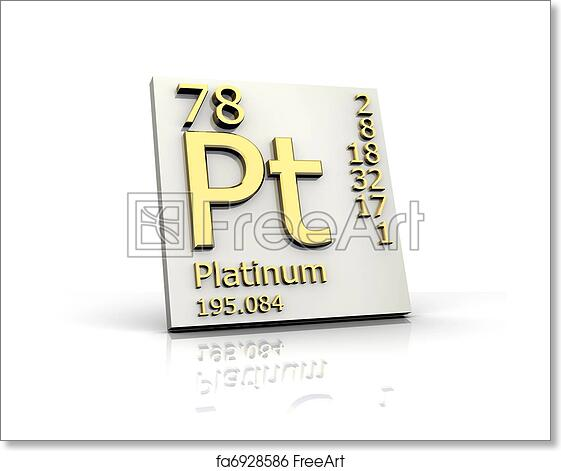 Free Art Print Of Platinum Form Periodic Table Of Elements